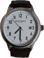 Enzo Tempo heren horloge - Bruin/zilver