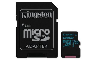 Kingston Technology Canvas Go! flashgeheugen 128 GB MicroSDXC Klasse 10 UHS-I