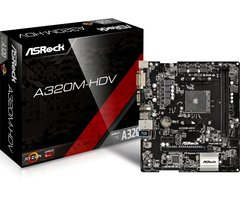 Asrock A320M-HDV AMD A320 Socket AM4 Micro ATX moederbord