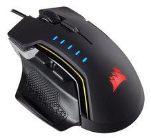 Corsair GLAIVE RGB USB Optisch 16000DPI Rechtshandig Zwart muis
