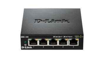 D-Link DGS-105 Unmanaged Zwart netwerk-switch
