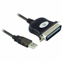 Ewent EW1118 kabeladapter/verloopstukje USB IEEE1284 Zwart