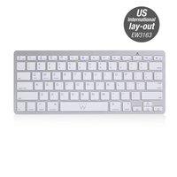 Ewent EW3163 Bluetooth QWERTY US International Zilver, Wit toetsenbord