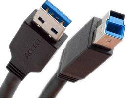 Ewent EW9623 USB-kabel 1,8 m USB A USB B Mannelijk Zwart
