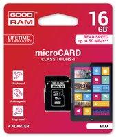Goodram M1AA-0160R11 16GB MicroSD UHS-I Klasse 10 flashgeheugen