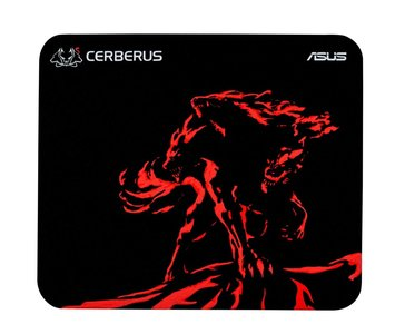 ASUS Cerberus Mat Mini Zwart, Rood Game-muismat