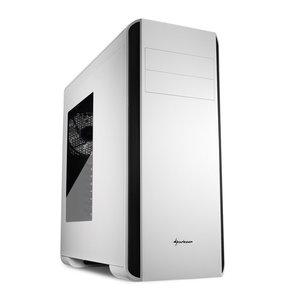 Sharkoon BW9000-W Midi-Toren Zwart, Wit computerbehuizing