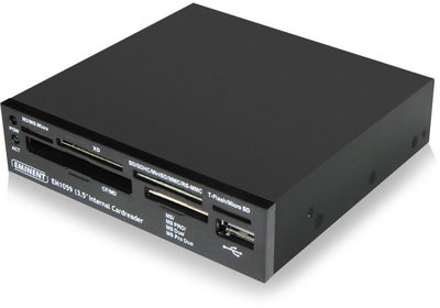 Eminent EM9000 Intern USB 2.0 Zwart geheugenkaartlezer