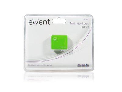 Ewent EW1127 480Mbit/s Groen hub & concentrator