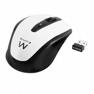 Ewent EW3216 RF Draadloos Optisch 1600DPI Ambidextrous Zwart, Wit muis