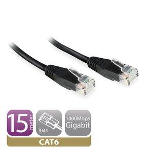 Ewent EW9533 10m Cat6 U/UTP (UTP) Zwart netwerkkabel