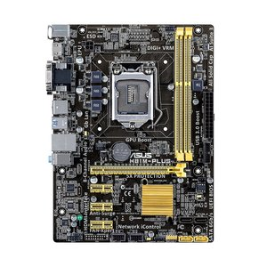 Asus H81M-PLUS / 1150  / SATA-3 / 4 x USB3.0 / DVI / HDMI moederbord